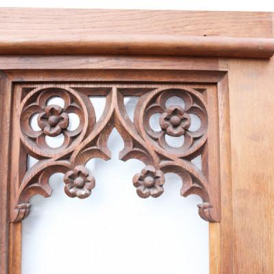 Circa 1900 Glazed Arched Oak Door