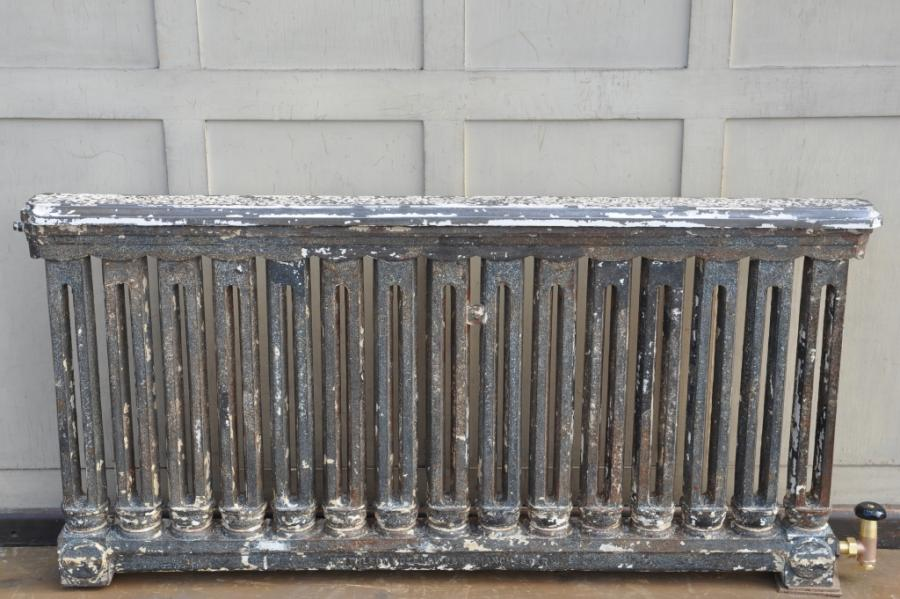 rare antique grilled cast iron radiators