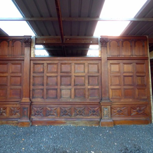 Reclaimed Carved Antique Oak Panelling