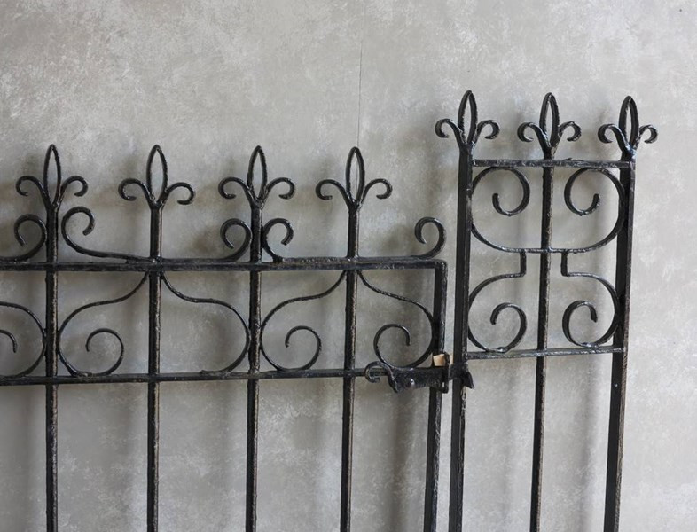 Totally original reclaimed iron gate and posts