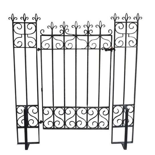 Original Vintage Iron Pedestrian Gate and Posts