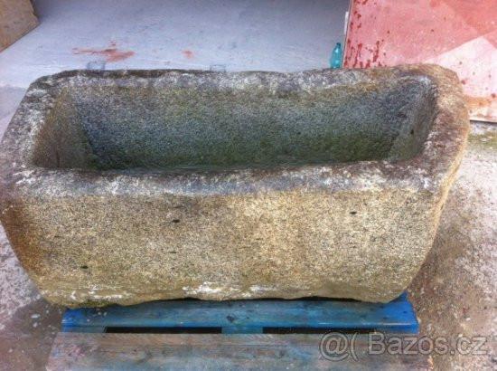 Very old granite horse trough