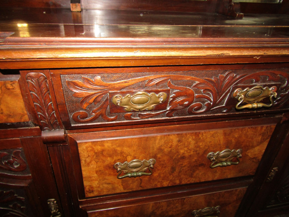 Victorian Mirrored Sideboard.
