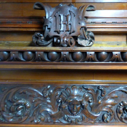 Reclaimed Carved Walnut Antique Wall Panelling
