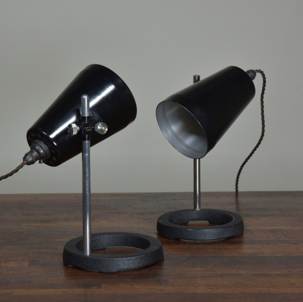Laboratory Table Lamps - Pair