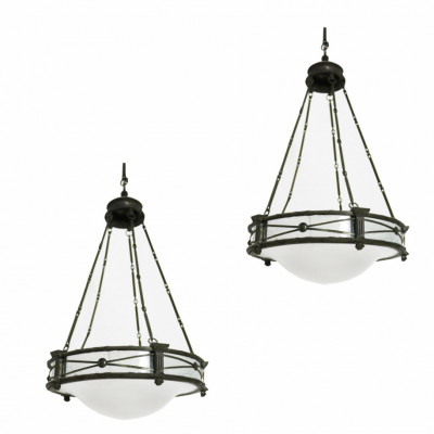 Pair Of Antique English Pendant Lights