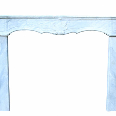 18th Century French Cararra Marble Fire Surround