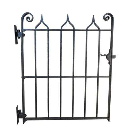 Antique Gothic Style Wrought Iron Pedestrian Gate