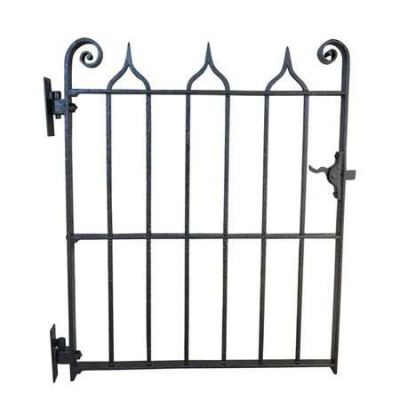 Old Antique Gothic Style Wrought Iron Pedestrian Gate