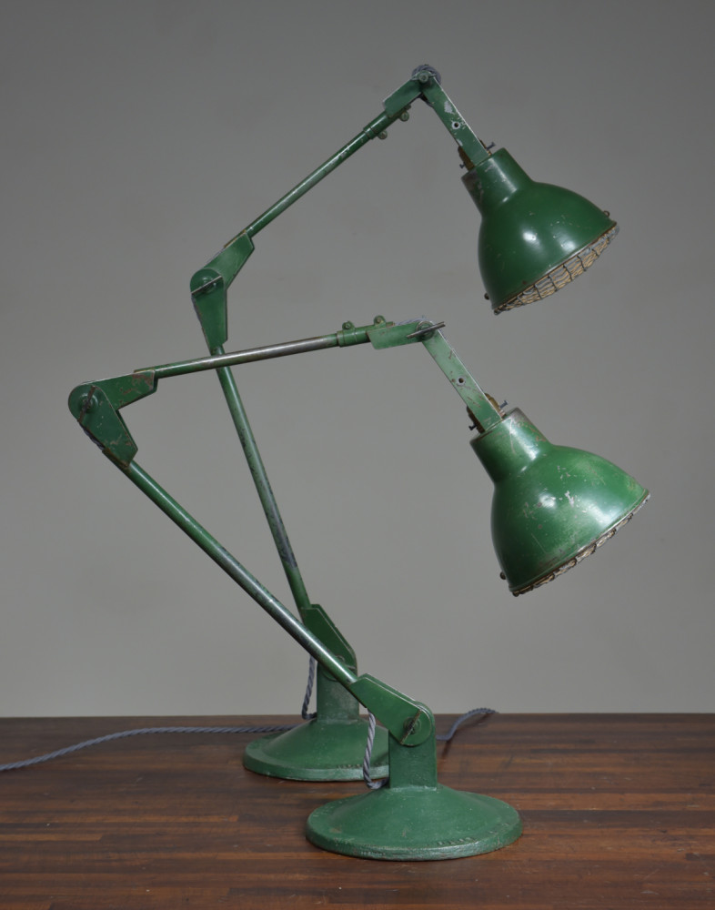 Industrial Table Lamps - Pair