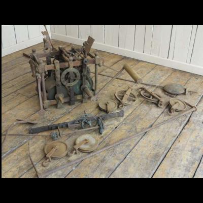 Antique Rare Turret Clock Mechanism & Pendulum