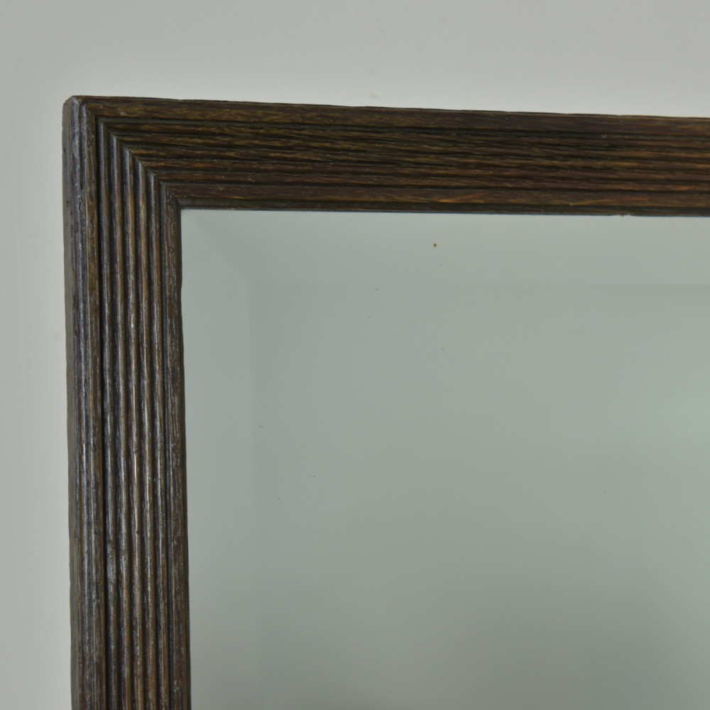 Reeded Oak Mirror