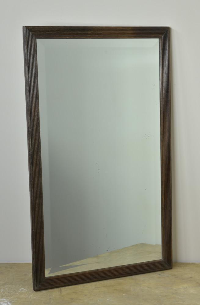 Reeded Oak Mirror