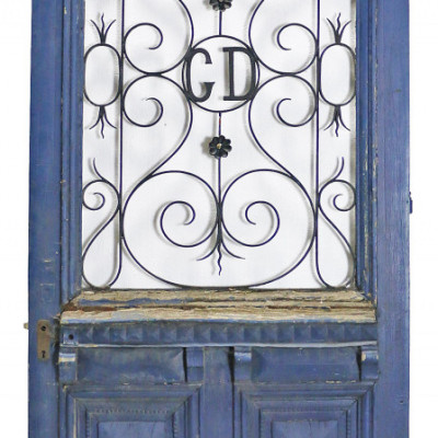 19th Century Painted French Oak Front Door