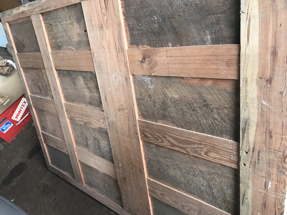 Antique Pitch Pine Panel