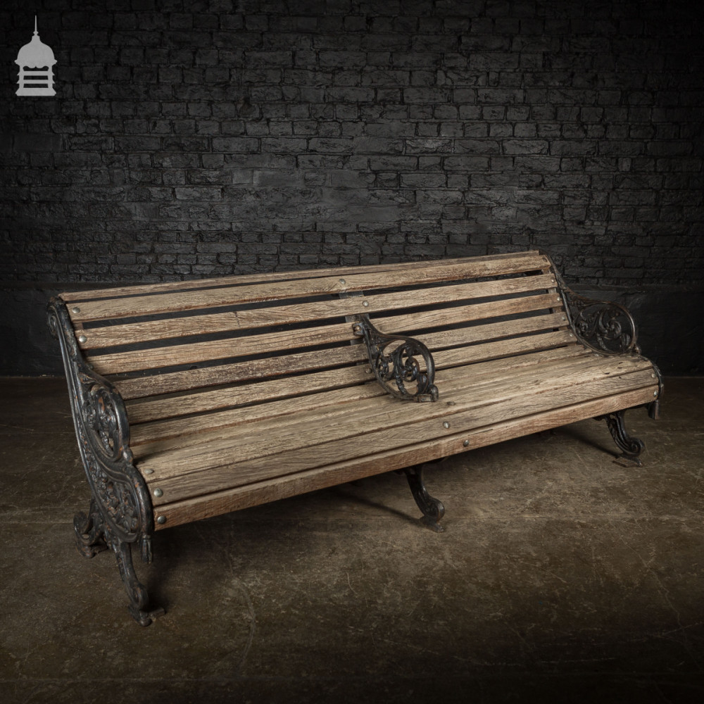 Fine Ornate Victorian Cast Iron Garden Bench With Hardwood Slats Evergreenethics Interior Chair Design Evergreenethicsorg