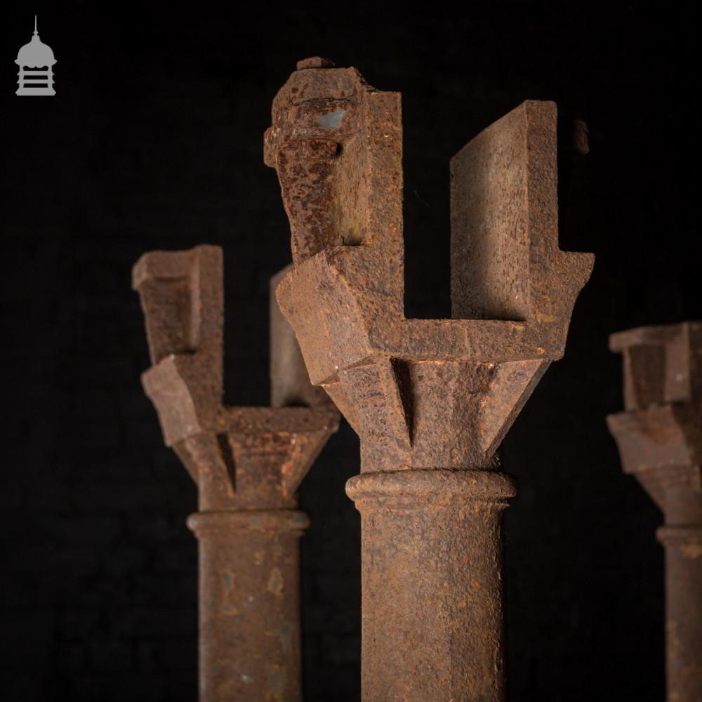 Columns For Sale >> Set Of 5 Victorian Cast Iron Columns Pillars Stanchions