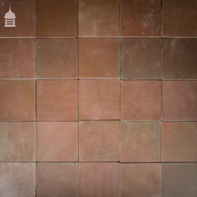 "Batch of 129 9x9"" Inch Heather Brown Ruabon Quarry Tiles"
