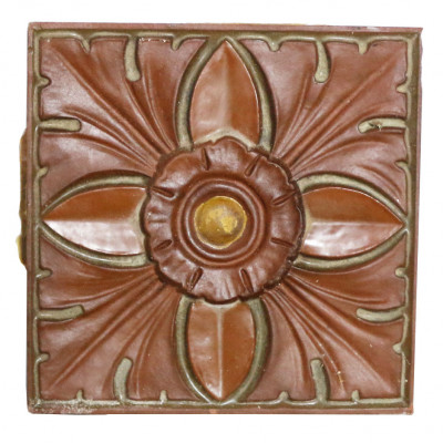 Set Of 16 Antique Maw & Company Tiles