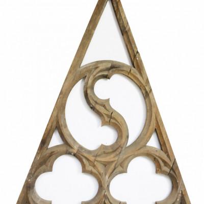 Carved Ecclesiastical Tracery Quatrefoil Panel