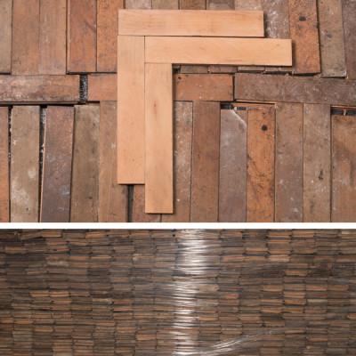 Antique Reclaimed Beech Parquet Flooring 45m²