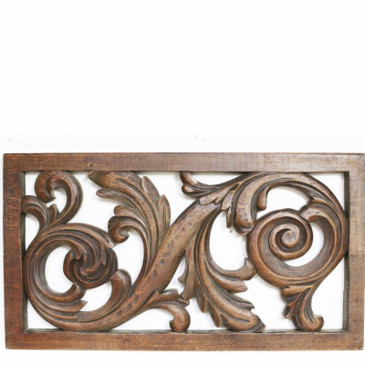 19th Century Carved Oak Panel