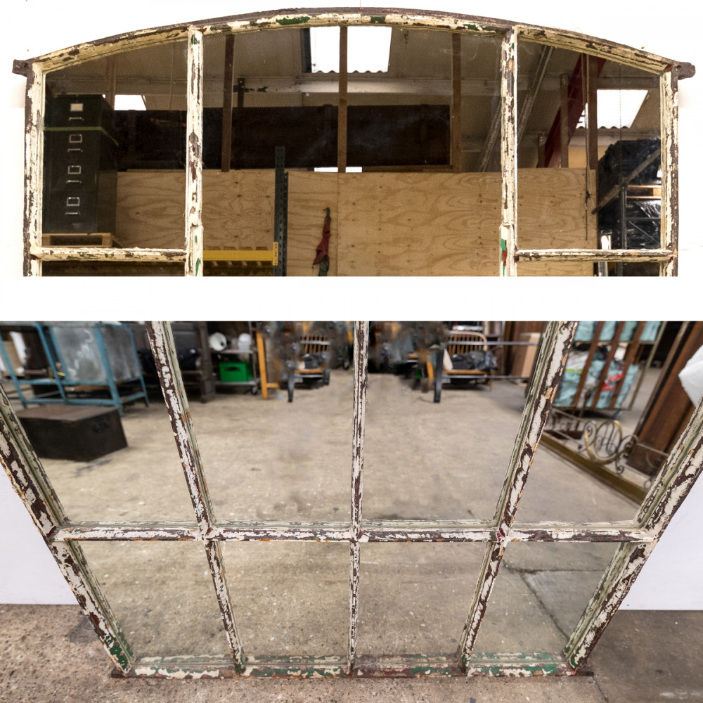 Antique Upcycled Victorian Warehouse Window Mirror