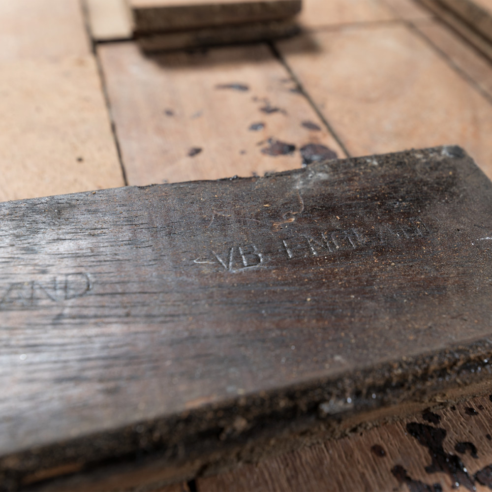 Antique Reclaimed Teak Parquet Flooring 100m² Available