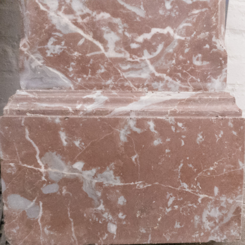 Antique Victorian Rouge Royal Marble Fireplace Surround