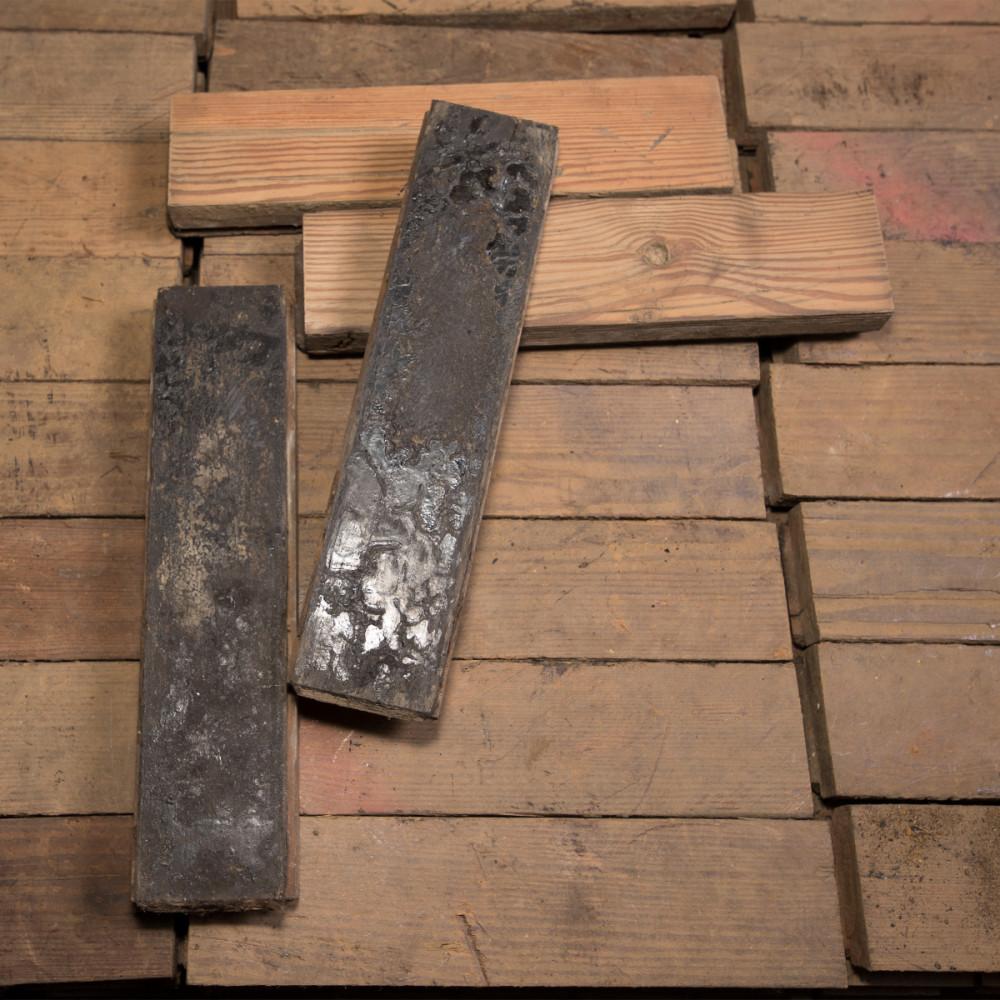 Antique Reclaimed Pine Parquet Flooring 53m² Available