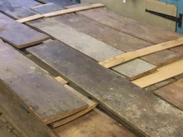 Large batch of elm boards from a single job