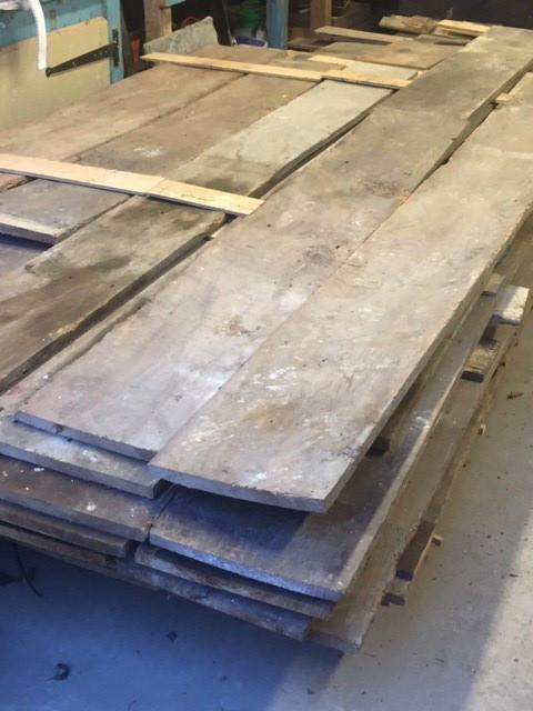 Reclaimed elm boards