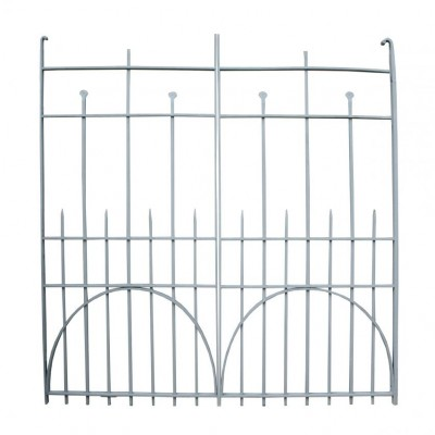 A pair of late 19th C. wrought iron gates