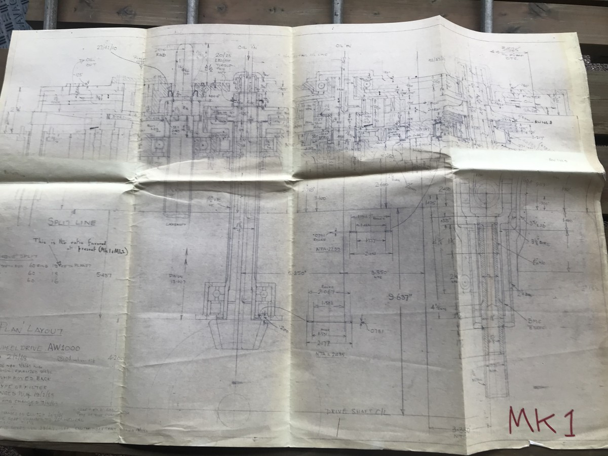 Blueprints of Ford BDE-F-G Engine