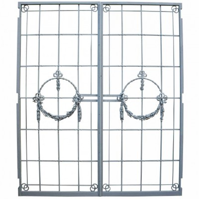 A pair of C. 1900 wrought iron gates / doors