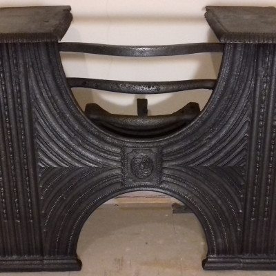 Georgian cast iron hob grate.