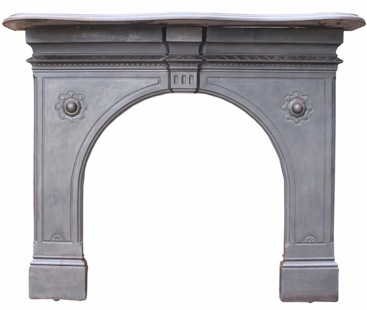 Antique English Cast Iron Fire Surround