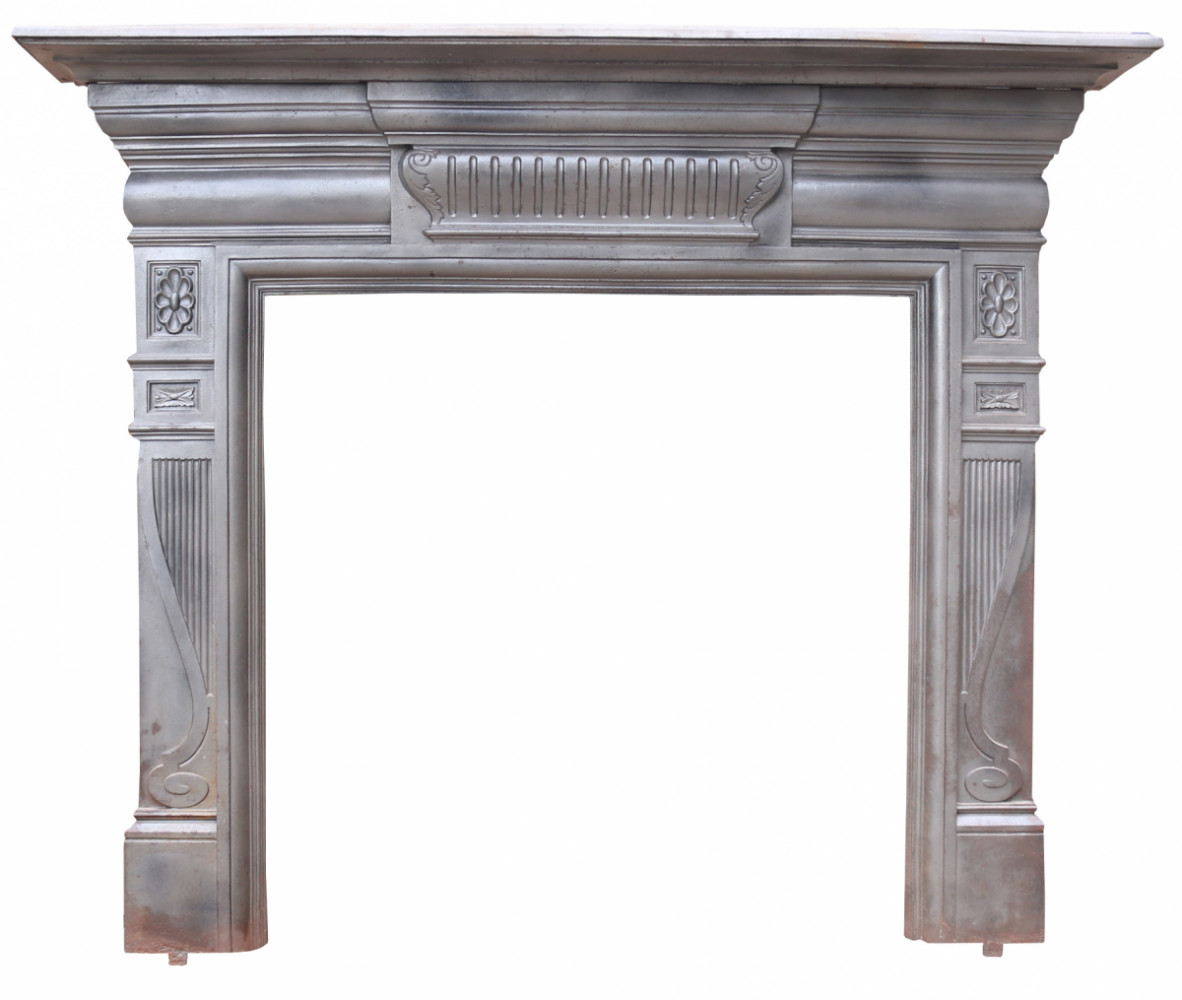 Antique Reclaimed Cast Iron Fire Surround