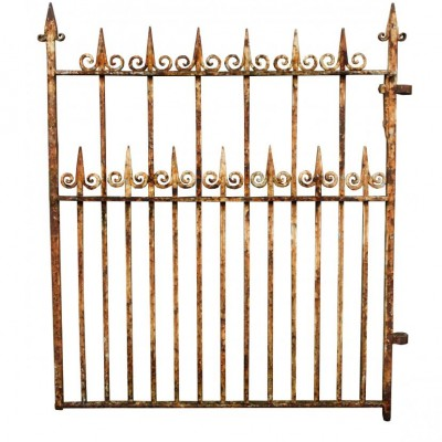 A late Victorian wrought iron side gate