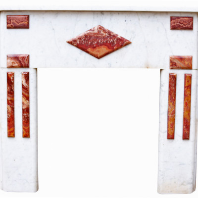 Reclaimed Century French Carrara Marble Fire Surround