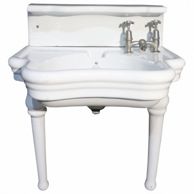 Rare English Barber Shop Wash Basin / Sink By Elegan 1918