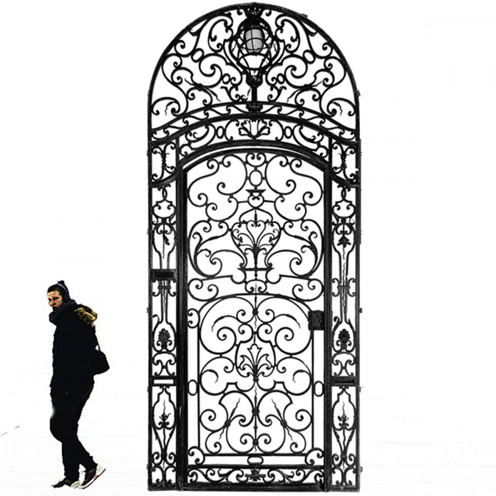 Large Ornate Mid 19th Century Wrought Iron Gate