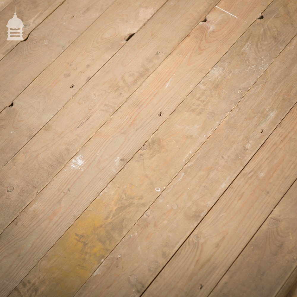 Batch of 5.5 SqMs of Reclaimed Narrow Strip T+G Pine Floorboards