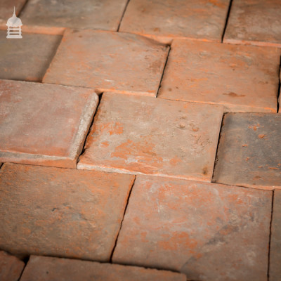 """Batch of 215 Reclaimed 6¾"""" Worn Red Quarry Tiles"""