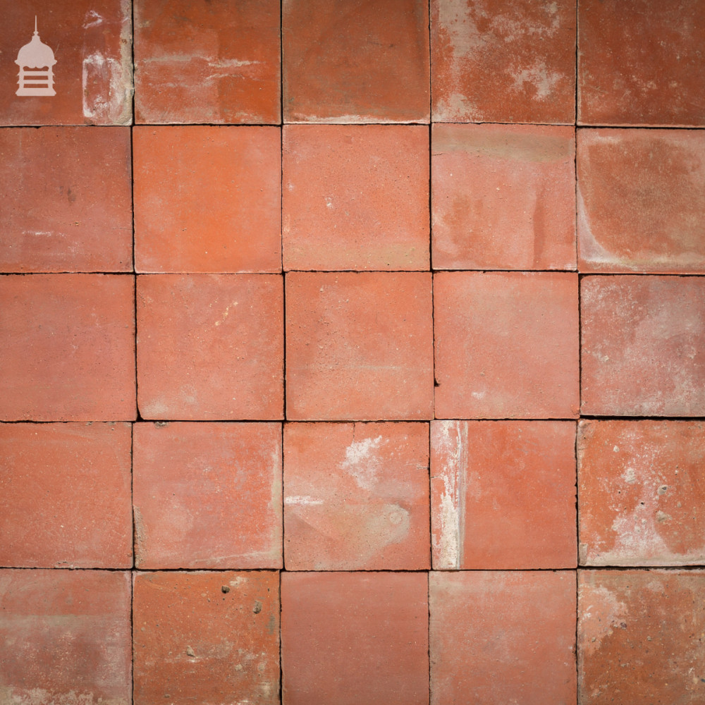 Batch of 730 Reclaimed 7 Inch Red Quarry Tiles 23 Square Metres