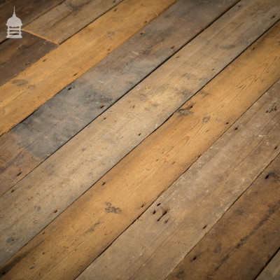 Batch of 52 Square Metres of Reclaimed Victorian T+G Pine Floorboards