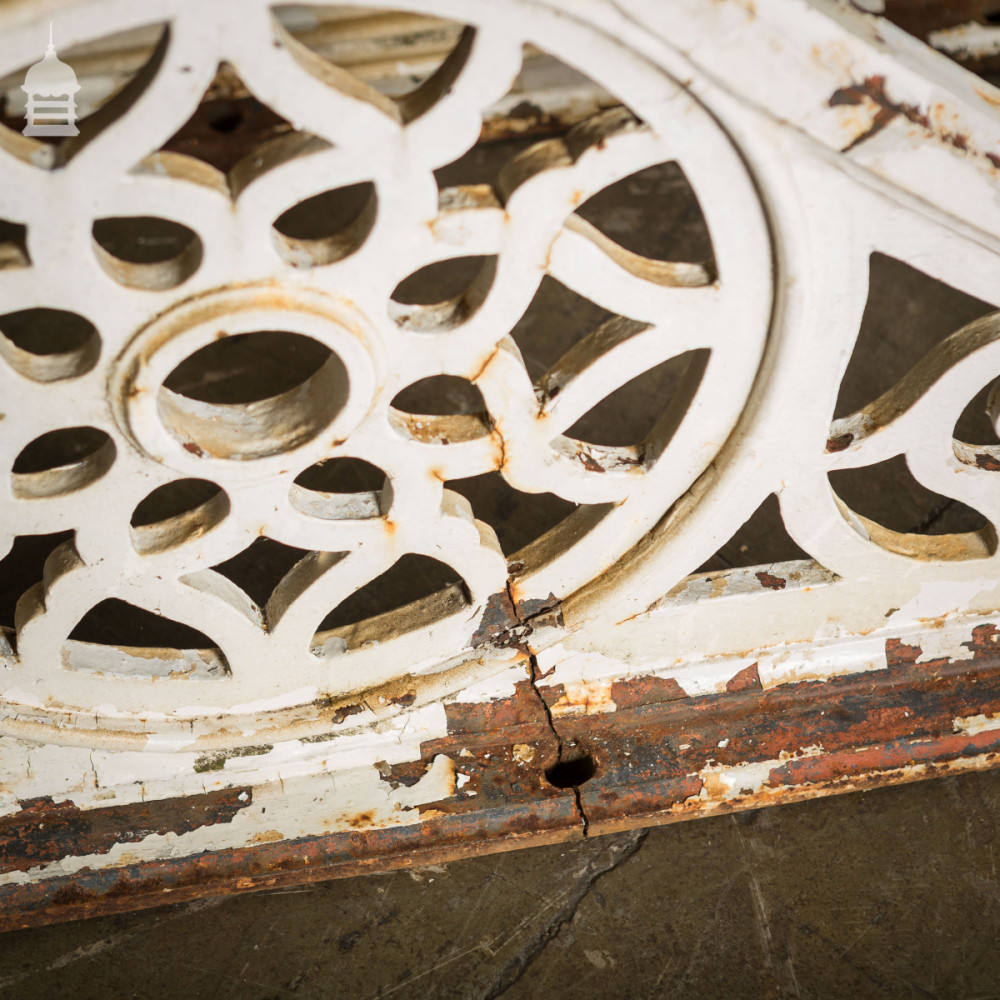 Set of 6 Large Victorian Cast Iron Brackets from a Railway Station
