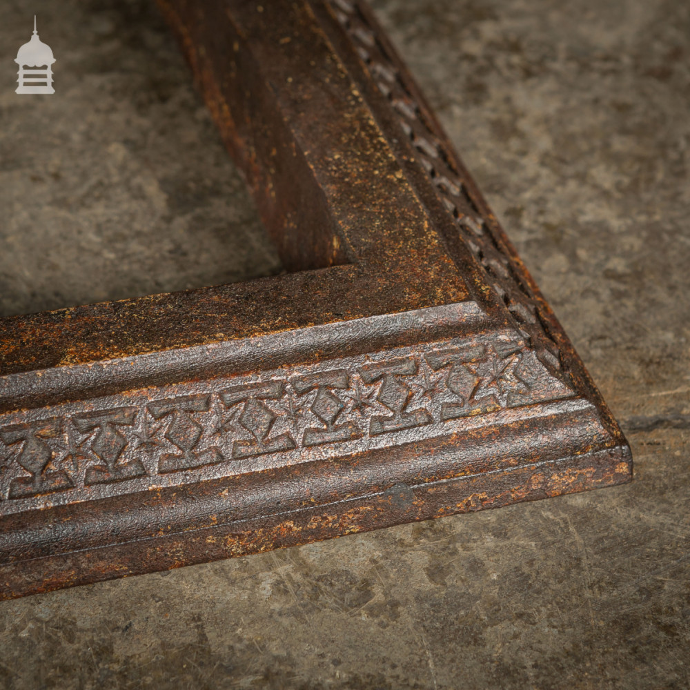 19th C Cast Iron Curb Fender with Star Design Pattern