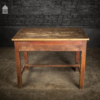 Rustic Pine Table with Scumble Finish Top