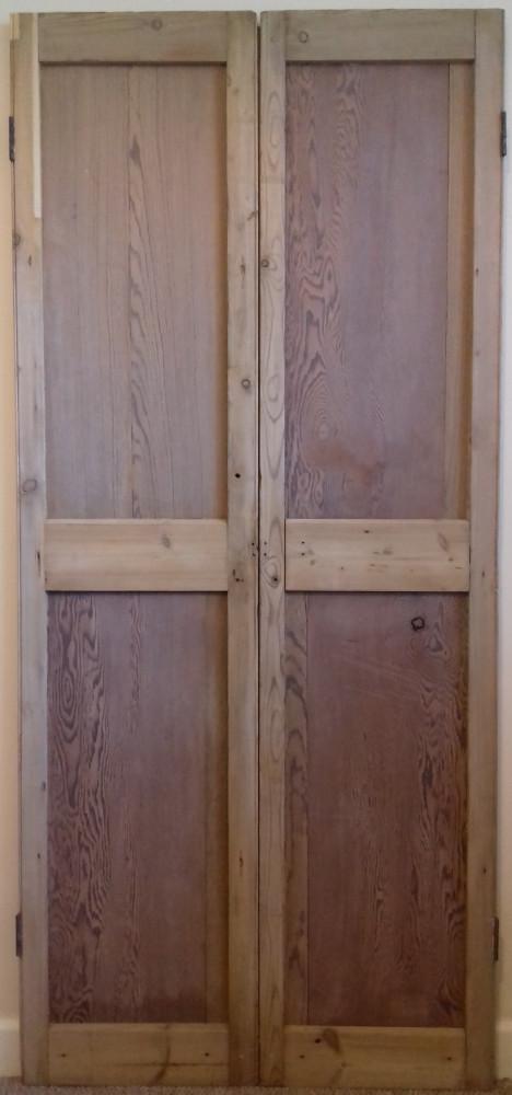 A reclaimed pair of rebated cupboard doors.